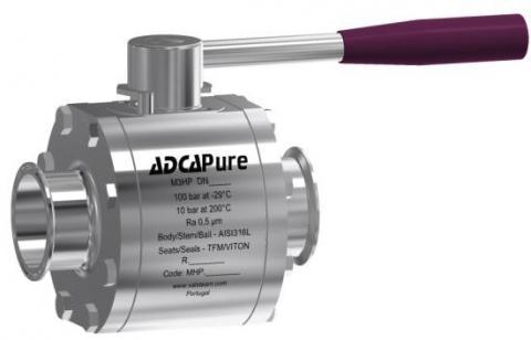 Válvula de bola de tres piezas alta pureza dn65-100 asme bpe M3HP