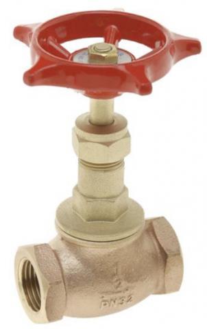 Valvula de interrupcion roscada bronce PN25 GV32B