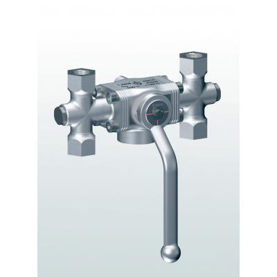 2700 Diverter ball valve made of stainless steel with threaded connections
