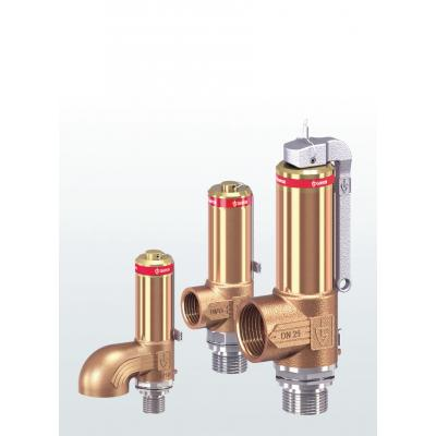 2480 Safety valves made of gunmetal, angle-type with threaded connections
