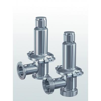 Hygienic 400.5 Overflow / Pressure control valve made of stainless steel, angle type  –External adjustment–