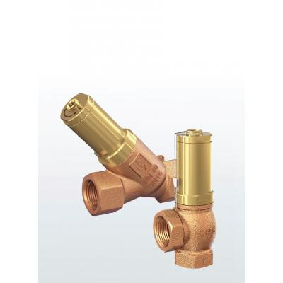 617 Overflow- / pressure control valves made of gunmetal, angled type or straight-  through type with threaded connections –externally adjustable–