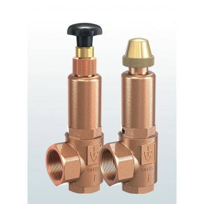 853 Overflow and pressure control valves made of gunmetal, angletype with threaded connections –externally adjustable–