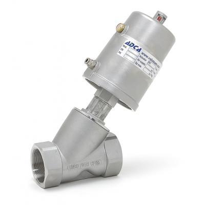 Pneumatic control valves pneumatic angle type interception valve PAV21