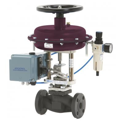Pneumatic control valves PV25 (ANSI) V25S globe control valves with linear actuators PA series