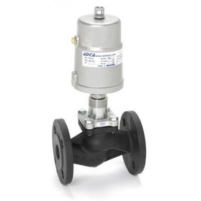 Pneumatic control valves PPV25 – ON-OFF  (V25 globe valves series with PPI series linear piston actuators)