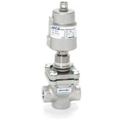 Pneumatic control valves PPV25I – ON-OFF (Complete stainless steel)  (V25I globe valves series with PP series linear piston actuators)