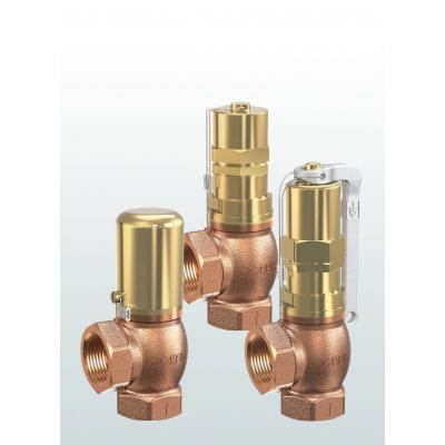 628 Pressure relief valves made of gunmetal, angle-type with threaded connections
