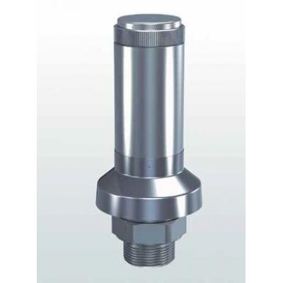 413 Safety valves made of stainless Steel atmospheric discharge with threaded connections