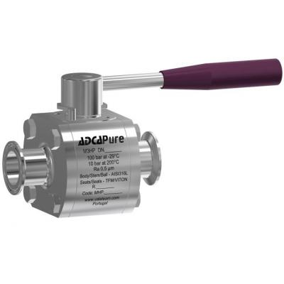 "High purity ball valves M3HP True bore (DN ½"" – 2"" ASME BPE )"