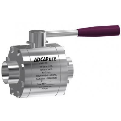 Válvula de bola de tres piezas alta pureza dn 65-100 din M3HP