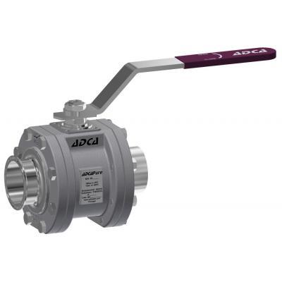 Válvula de bola de tres piezas higiénica dn 65-100 din M3H