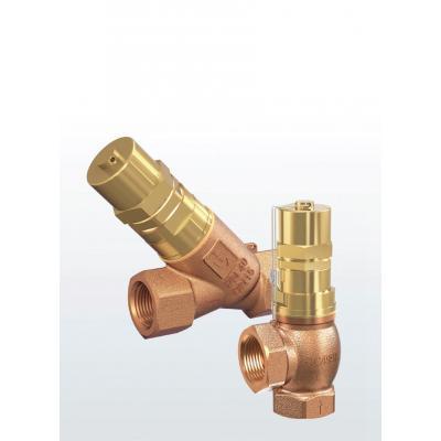 Valvula de rebose y control de presión en bronce tipo Y conexiones roscadas 618