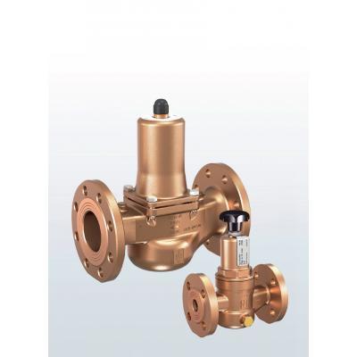 Valvula de rebose y control de presión en bronce paso en recto conexiones bridadas y ajuste externo 631