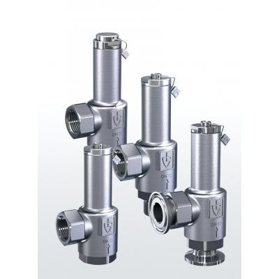 Valvula de rebose y control de presión en acero inoxidable paso en angulo conexiones roscadas y ajuste externo 417
