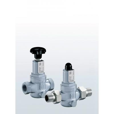 Valvula de rebose y control de presión en acero inoxidable paso recto conexiones roscadas y ajuste externo 430