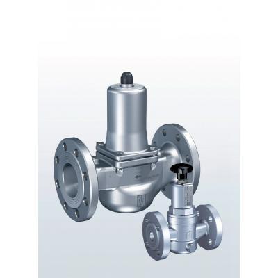 Valvula de rebose y control de presión en acero inoxidable paso recto conexiones bridadas y ajuste externo 431