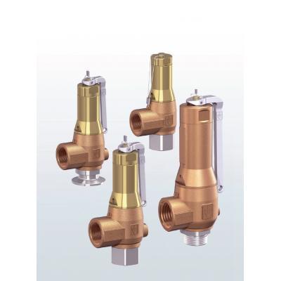 Válvula de seguridad en bronce de paso angular con conexiones roscadas 6450