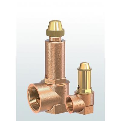 Válvula de seguridad en bronce de paso angular con conexiones roscadas 652