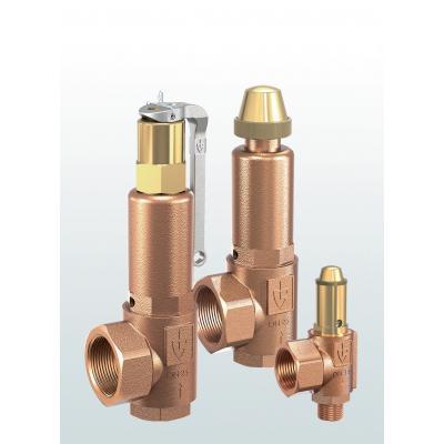 Válvula de seguridad en bronce de paso angular con conexiones roscadas 851