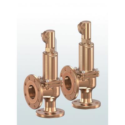 Válvula de seguridad en bronce paso angular con conexiones bridadas 852