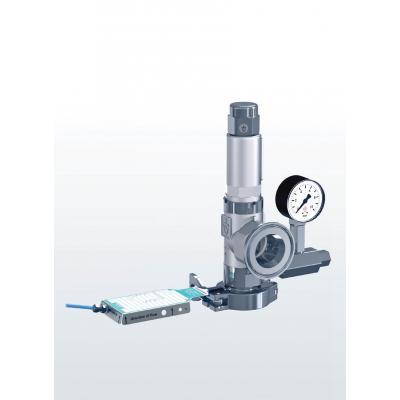 Las válvulas de seguridad hechas de acero inoxidable, tipo de ángulo, combinado con disco de ruptura aguas arriba con conexion clamp 451r