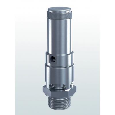 Valvula de seguridad acero inoxidable descarga atmosferica conexiones roscadas 410