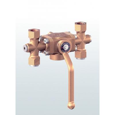 Valvula diversora en bronce con conexiones roscadas 2780
