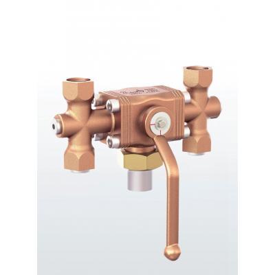 Valvula diversora en bronce con conexiones roscadas 2781