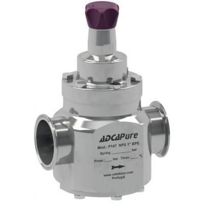 Válvula sanitaria reductora de presión pilotada DN65-80 ASME BPE DIN ISO P147