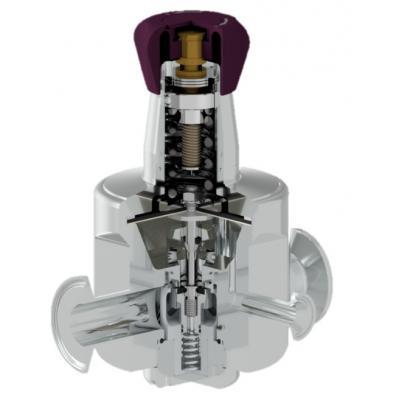 Válvula sanitaria reductora de presión DN32-40 ASME BPE DIN ISO P130G