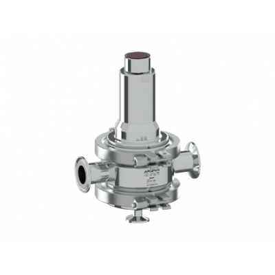 Válvula aséptica mantenedora de presión DN15-50 ASME BPE DIN ISO PS163